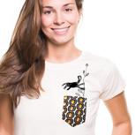 """Kipepeo Frauen Shirt Taschentierchen """"Kletteraffe"""""""
