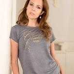 glückskind – women shirt grau leinen