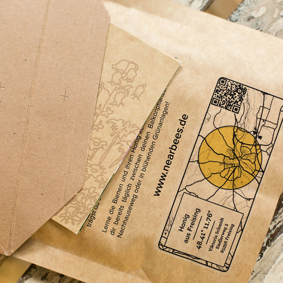 Sweetest Letter – voucher for one local honey packet