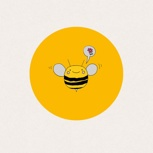 DIE KUNDSCHAFTERBIENE - Unser Bienchenaufkleber