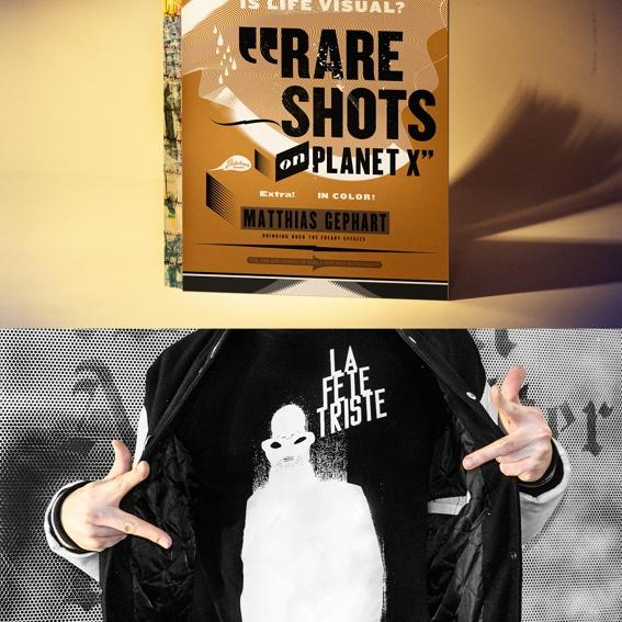 RARE SHOTS book and LA FETE TRISTE T-shirt
