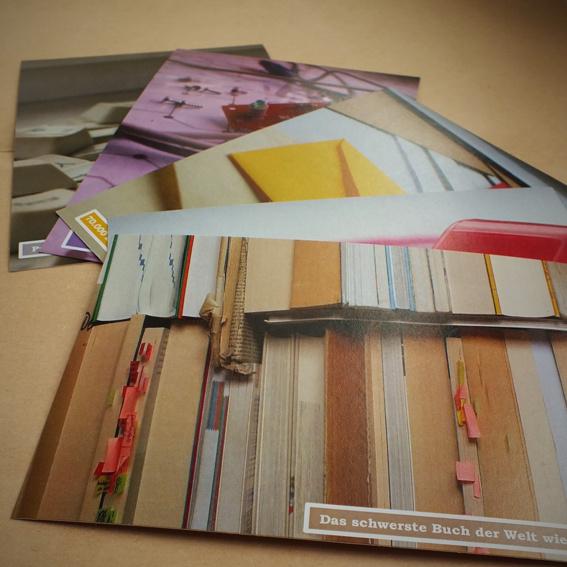 """Postkarten der Serie """"Eine Bibliothek voller Vielfalt"""""""