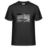 """1 x T-Shirt """"Small Step"""" (mit Motiv und WaveFont-Aufschrift)"""