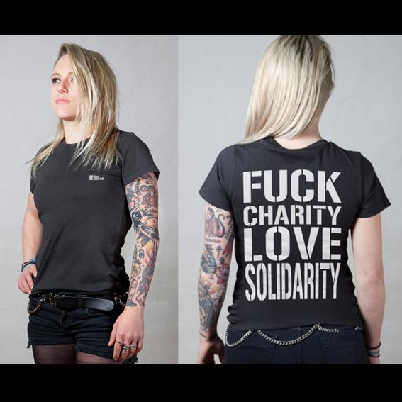 "dna#1 ""Fuck Charity Love Solidarity"""
