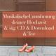 Musikalische Umrahmung deiner Hochzeit & sig. CD & Download & Tee