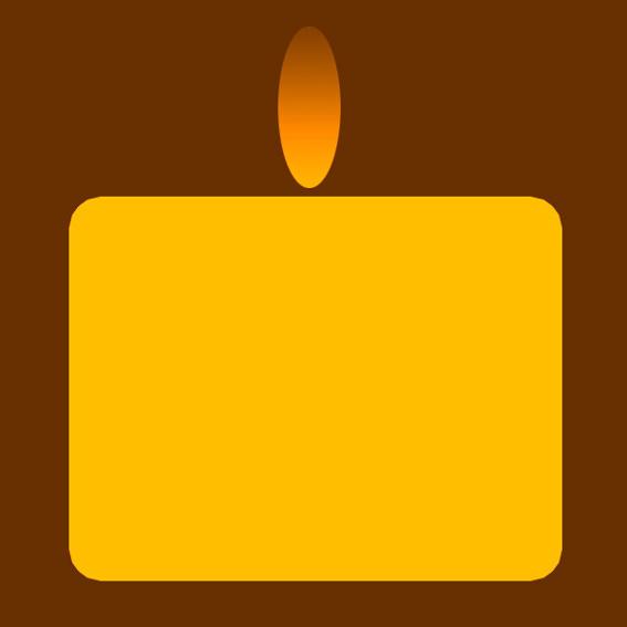 Großer Kerzenstumpen mit Erinnerungsbanderole