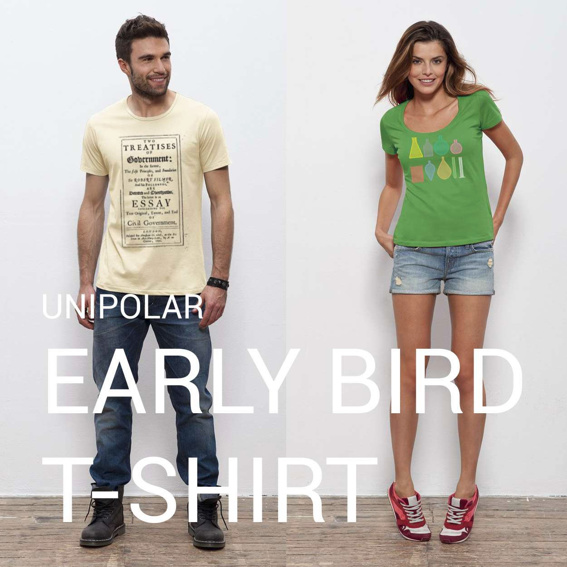 Early-Bird: UNIPOLAR T-Shirt deiner Wahl