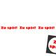 ZU SPÄT! Postkarten-Set (blanko) + 1 Button