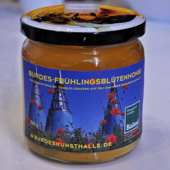 Honig vom Dach der Bundeskunsthalle in Bonn