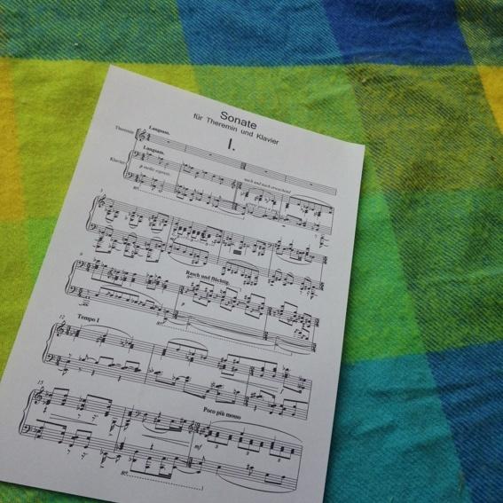 Sonata for Theremin and Piano #1 - Score