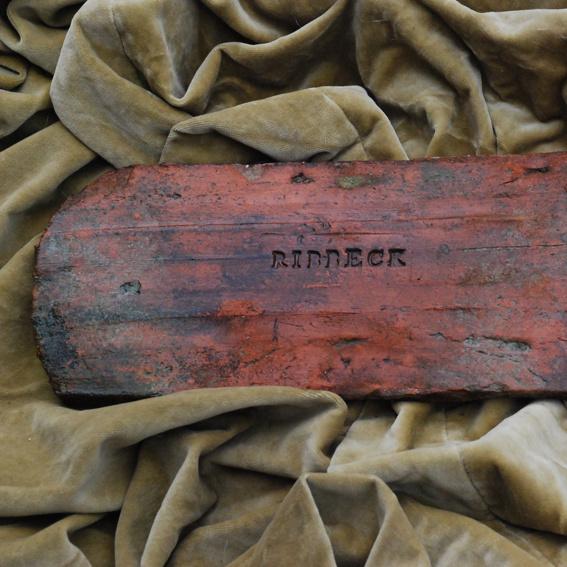 """Original Ribbecker Handstrichziegel von 1850 mit Stempel """"Ribbeck"""""""