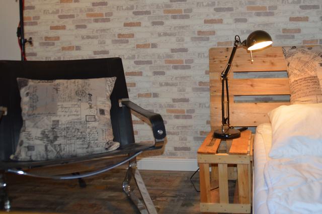 Upcycling-Designzimmer im Haus Fläming