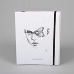 """Moths and myths"" (black/ white carton) – Swiss Brochure"