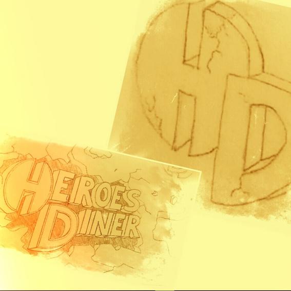 Restaurant Gutschein + Logo und Schriftzug als Scan