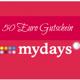 50,00€ MyDays Gutschein