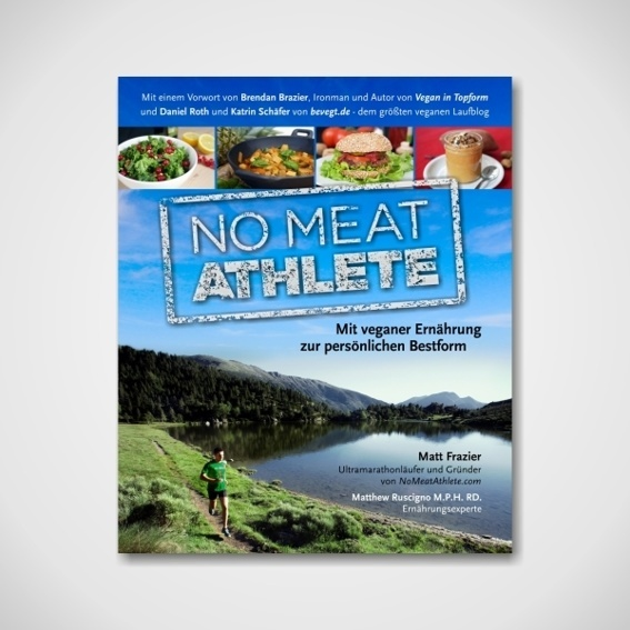"""No Meat Athlete"" Buch + Sticker + Button"