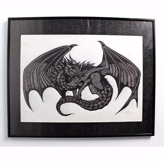 The Dragon Photo-Print Handsigniert