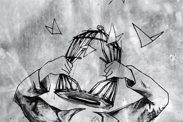 Zaunkoenig - Der Vogel fliegt aus