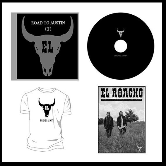 'Road to Austin' Album Bundle - mit CD, Vinyl Platte, limitiertes T-Shirt und Poster (alles handsigniert)