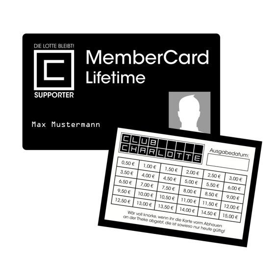 Membercard - Lifetime & Drinks