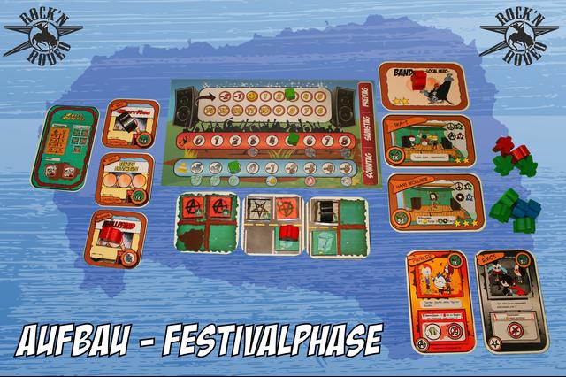 Rock`n Rodeo - Der Festivalmanager - Brett- und Kartenspiel