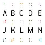 Plakat Braille-Alphabet