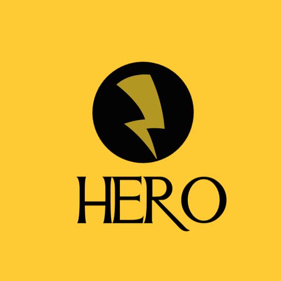 Verschiedene HERO Sticker