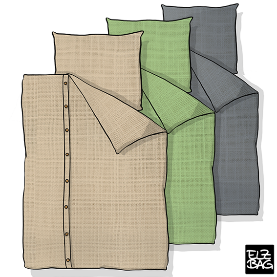 Set of bed linen 135x200cm - EARLY BIRD