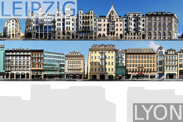german|french twin towns in streetline cityscapes