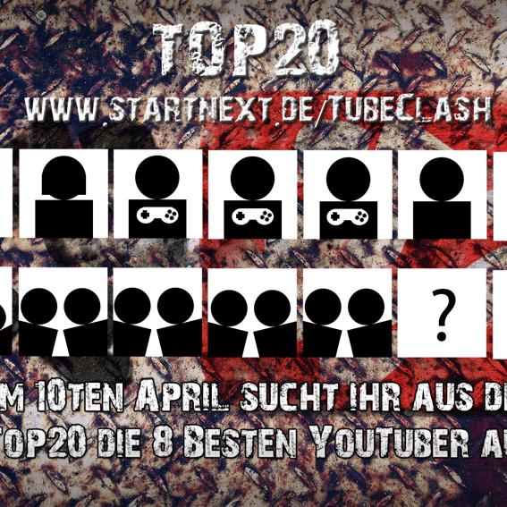 #TubeClash Top20 - HD-Wallpaper