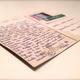 handgeschriebene Postkarte