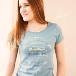 passion for planet no2 – women shirt taubenblau