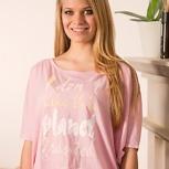 passion for planet no1 – women shirt rose fledermausärmel