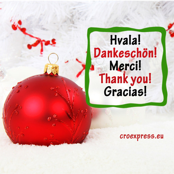 Danke! Hvala! Thank you!