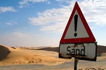 Zwei Geologen in der Wüste