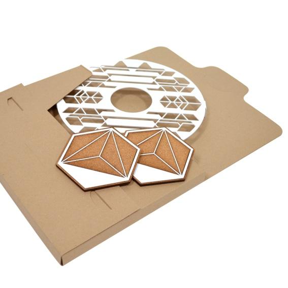 Geschenkset aus Design-Untersetzern im Wert von 99€