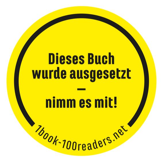 1book-100readers: 20 Sticker zum Auswildern