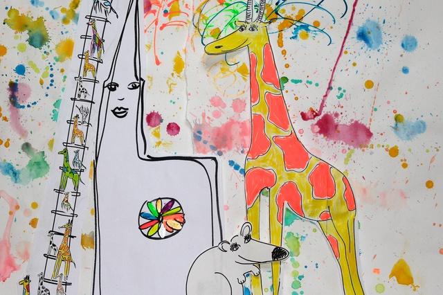 Die Giraffe auf dem Rhein - La girafe sur le Rhin