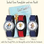 Eine Pumpfuhr und ein sign. Buch der Erstausgabe / Un Pumpfreloj + un libro (diseño a mano) de la primera edición