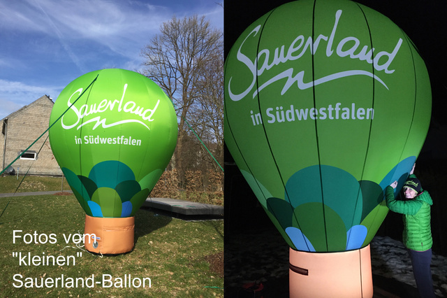 Ein Heißluftballon für das Sauerland
