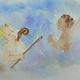 Ein Original Aquarell von Vitus und Balthasar der Illustratorin extra exklusiv für dieses Crowdfunding gemalt