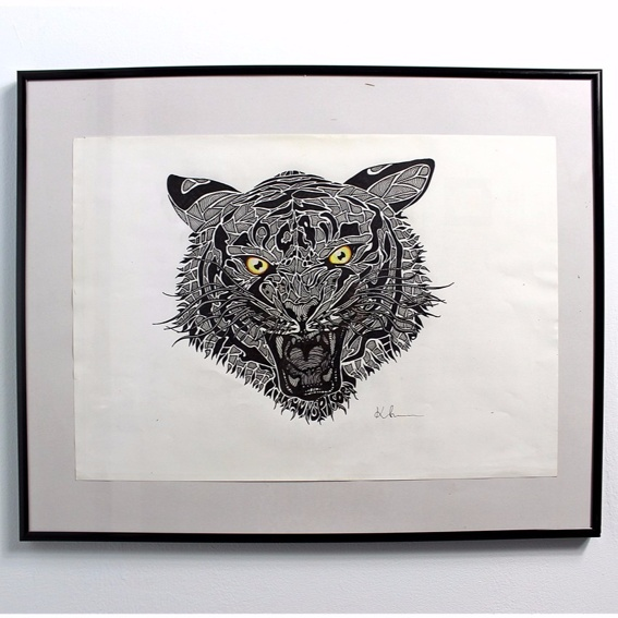 The Tiger Photo-Print Handsigniert
