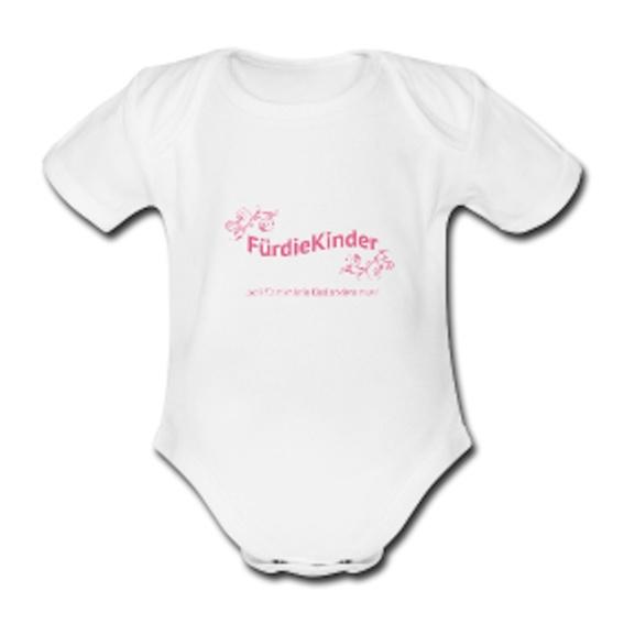 """Babybody mit """"FürdieKinder"""" - Logo"""