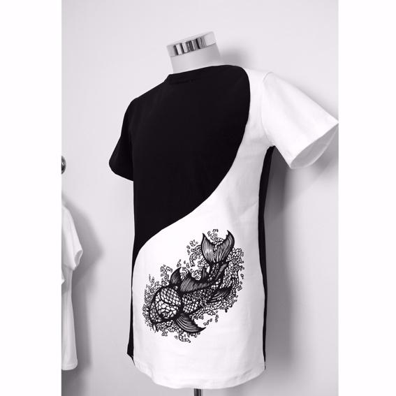 Ying-Yang Design Shirt 1 Side Printed Men