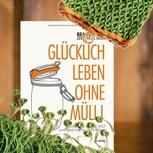 """Buch """"Glücklich leben ohne Müll"""" + Häkel-Obst&Gemüsebeutel"""