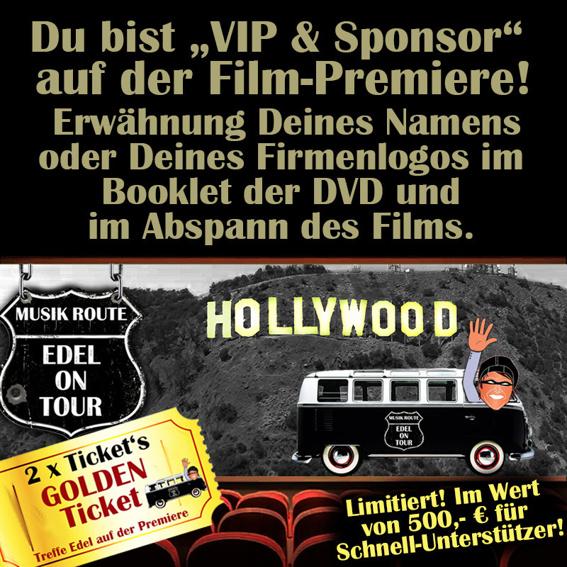 """Frühbucher """"VIP & Sponsor"""" (im Wert von 500,- € für Schnell-Unterstützer)"""