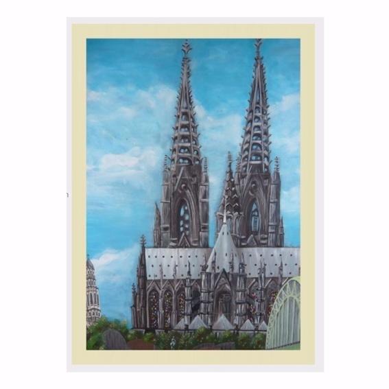 Druck auf Leinwand: Kölner Dom