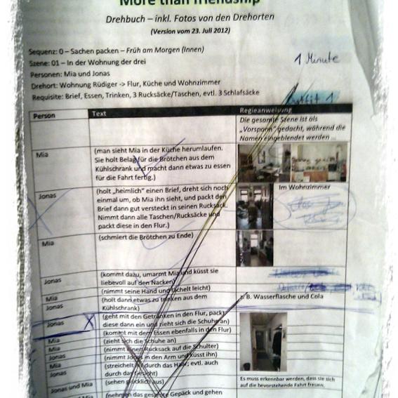 Original-Drehbuch des Regisseurs + 4 Premieren-Tickets + Abspann-Würdigung + DVD