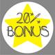 20% Bonus - Voucher