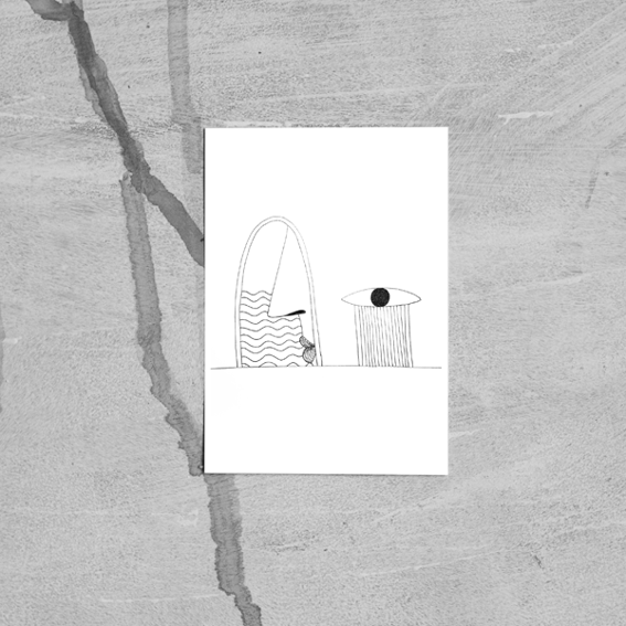 Postkarte 'What's behind my Window'